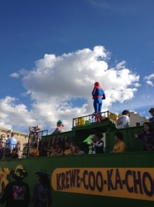 Even spider man comes to our parades.