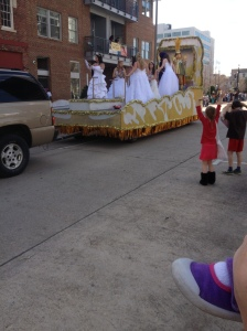hello float full of brides..